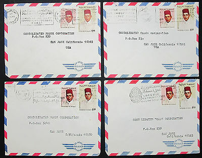 Morocco Airmail Set of 4 Covers Letters Envelopes Lupo Marokko Briefe (H-8385