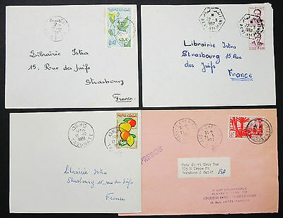 Morocco Postage Set of 4 Covers Letters Envelopes Stamps Marokko Briefe (H-8386