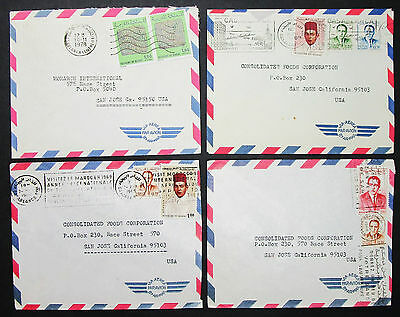 Morocco Set of 4 Covers Letters Envelopes Stamps Lupo Marokko Briefe (H-8383