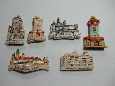 One Selected 3D Souvenir Fridge Magnet from Poland