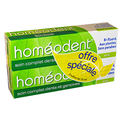 Homéodent Soin complet dents et gencives Anis 2x75ml