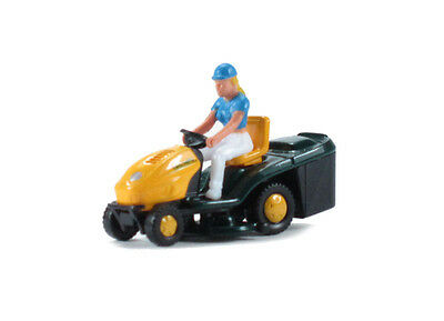 Wiking - Woman on Ride-on Lawn Mower - HO Model Trains - Layout Ready