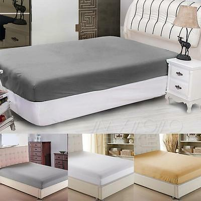 """UK Extra Deep Fitted Sheet 10"""" , 30cm King Super King Size Bed Fitted Sheets"""