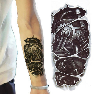3D Waterproof Robot Arm Temporary Tattoo  Stickers Body Art Removable Tatoos