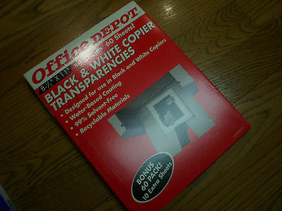 Office Depot Black & White Copier Transparencie ~ 41 Sheets Available