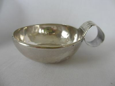 SUPERB EARLY 1800's SOLID SILVER FRENCH WINE TASTER TASTEVIN CUP