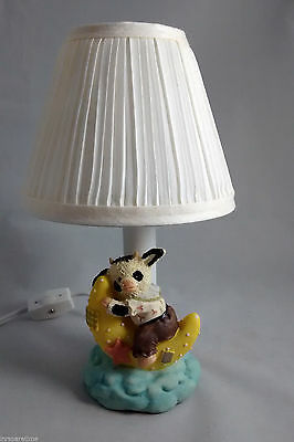 Mooville Cow On The Moon Baby Child Night Light Lamp