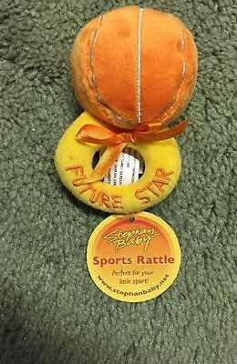 Stephan Baby Stuffed Basketball Ring Rattle Baby Shower Gift NWT