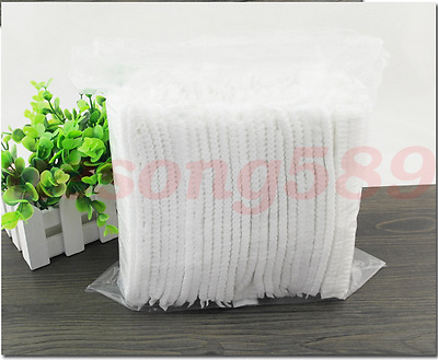2017 New 100X Disposable One-off Shower Bathing Clear Hair Elastic Caps Hat