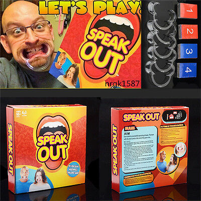 Speak Out Funny Mouthguard Challenge Party Board Game Xmas Gift Toy AC