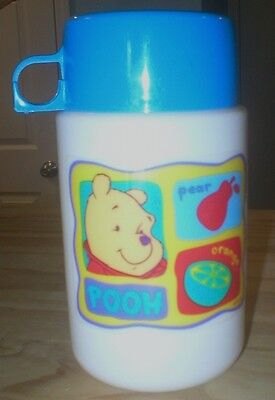 WINNIE THE POOH Plastic Thermos without Lunchbox Blue Top