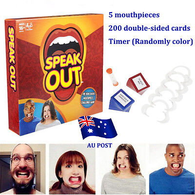 Speak Out Funny Mouthguard Challenge Party Board Game Xmas Gift Toy BO