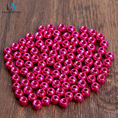Pink Fly Tying Beads 2.0/2.4/2.8/3.3/3.8mm Tungsten Beads Nymph Head Ball Beads