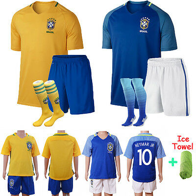 17 Football Soccer Team Suit Sport Jersey Kit Short Sleeve Kid Boy Youth 3-12Y