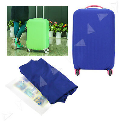 "26-30"" Luggage Protector Elastic Suitcase Blue Cover Bags Dust-proof Case"