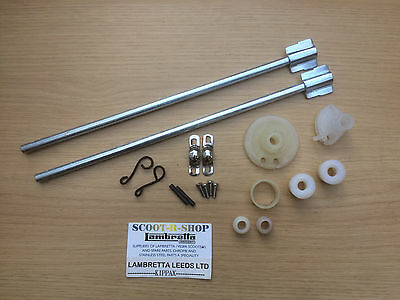 Lambretta Series 3 Complete Headset Control Rod Kit - Brand New