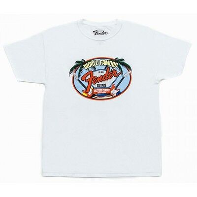Fender World Famous Visitor Centre T Shirt White Medium