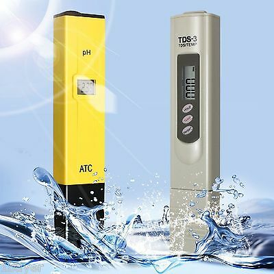 DLAND Digital PH Meter + TDS Tester Aquarium Pool Hydroponic Water Monitor