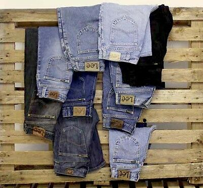 Job Lot 10 X Mixed Lee Jeans