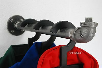 Industrial Pipe Pipework clothes coat rail storage wall mounted by Fe20six