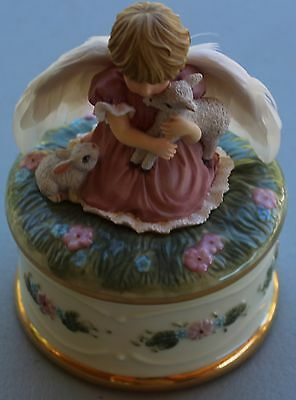 """Angel Music Box """"Angel's Love""""; The Hamilton Collection (#A2590)"""
