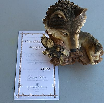"""Wolf Figurine """"Time of Reflection""""; The Hamilton Collection"""