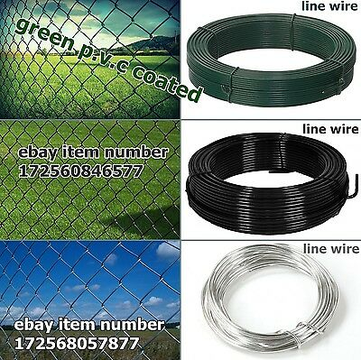 Chain link fencing - green 3 ft - 10 ft + line wire , made to measure