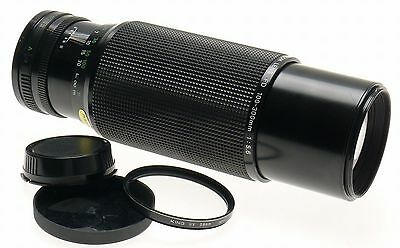 CANON ZOOM LENS FD MOUNT 100-300mm 1:5.6 CAPS FILTER INCLUDED 5.6/100-300 EXCELL