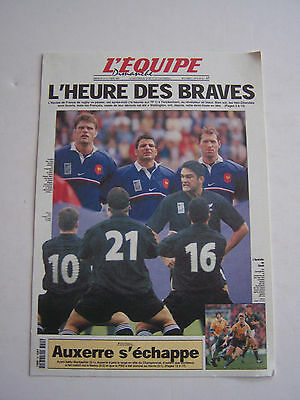 La Une De L' Equipe 1999 , Rugby France - All Blacks Coupe Du Monde .cartonne .