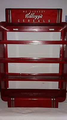 Vintage Kellogg cereal shelf, rack,  display single serve, 40's