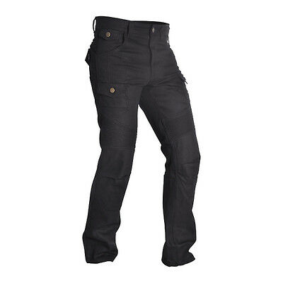 Oxford SPJ4 Aramid Reinforced Cargo Motorcycle Trousers Black Long Leg Length