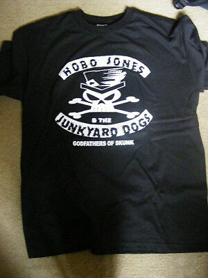 HOBO JONES & JUNKYARD DOGS skull & crossbone T-SHIRT sizes - S, M, L, XL