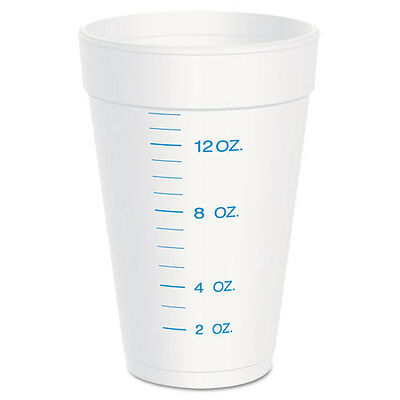 Dart Graduated Foam Cup 16 Ounces 25 per Pack 40 Packs/Carton 16J16GRAD