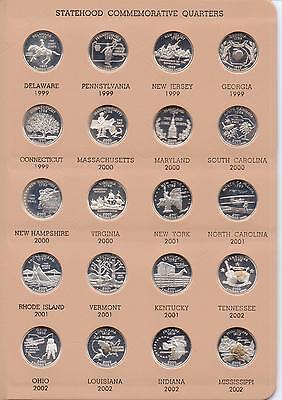 Complete Set 50 State Quarters/SILVER Proofs - Includes Territories