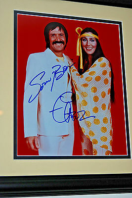 SONNY AND CHER ORIGINAL AUTOGRAPHED 8x10 PHOTO FRAMED