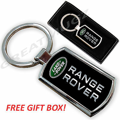 Range Rover Land Rover Car Keyring Key Chain Ring Fob Chrome Metal New