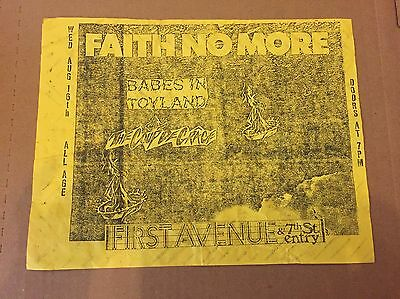 FAITH NO MORE vintage concert flyer 1989 BABES IN TOYLAND punk CHAIN OF STRENGTH