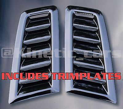 Focus RS MK2 style ABS plastic bonnet vents *FORD PROFILE* With trimplates inc