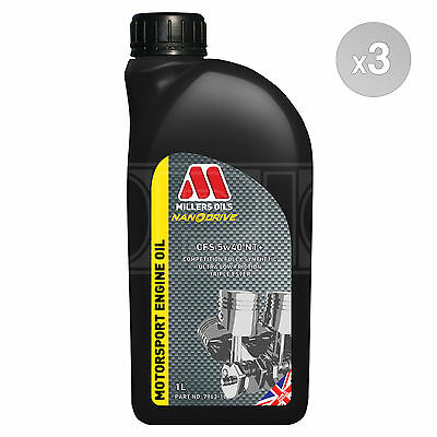 Millers NANODRIVE CFS 5w-40 NT+ Full Synthetic Engine Oil 3 x 1 LITRE