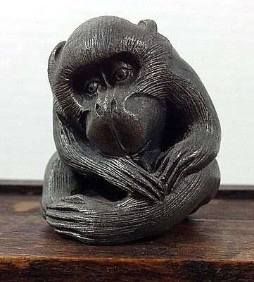 1970's Vintage Pewter IS© Monkey Chinese Calendar Figurine