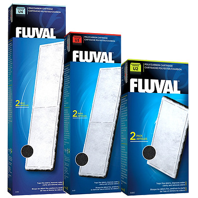 Fluval Poly Carbon Cartridges - 2 Replacements for U2 U3 & U4 Internal Filters