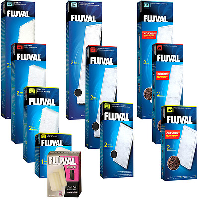 Fluval Filter Foam Pads Poly Carbon & Poly Cleamax Filter Cartridges U1 U2 U3 U4