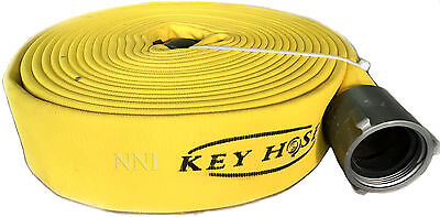 """2-1/2"""" NST x 50' Polyester Double Jacket attack Fire Hose 800Psi test Yellow"""