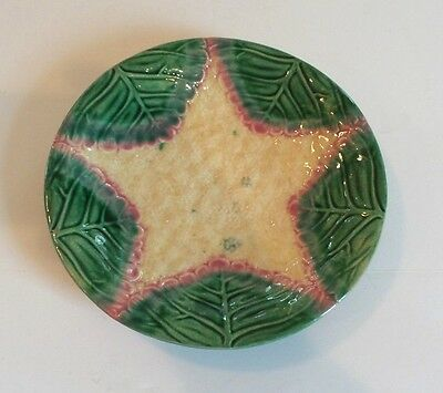 """19th C. AMERICAN GRIFFIN, SMITH & HILL ETRUSCAN MAJOLICA """"CAULIFLOWER"""" 8"""" PLATE"""