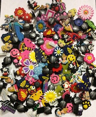 50 Mixed Random Girls Shoe  Charms For Crock Shoes/ Wristbands Or Crafts