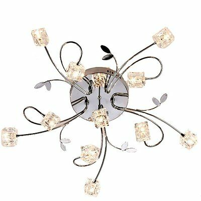 DINGGU™ Flush Mount Modern Dimmable Ceiling Chandelier Lighting with 11 Lights