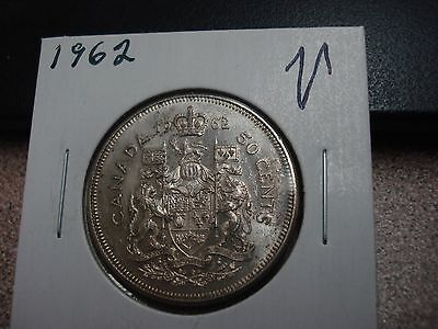 1962 Canada circulated 50 cent coin - silver Canadian half dollar