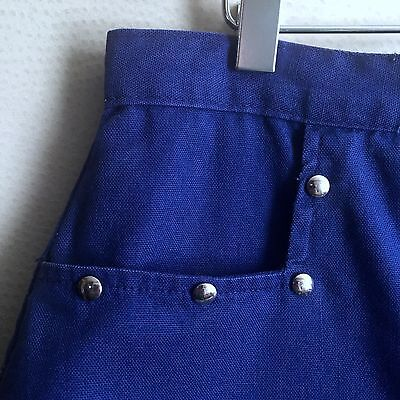 "Vintage 1970s Blue Cotton Skort Skirt Shorts Girltown size 10 23"" W Sally Draper"