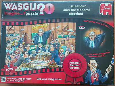 Wasgij Imagine if Labour win Election 1000 Piece Jigsaw Puzzle New