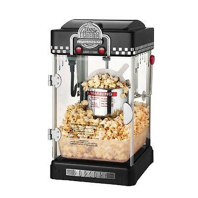 Great Northern Black Little Bambino Table Top Retro Machine Popcorn Popper 2.5oz